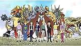 BOIPEEI Rompecabezas Adultos 1000 Piezas Rompecabezas de Madera Digimon Adventure Last Evolution Figuras Adultos y niños Xk274