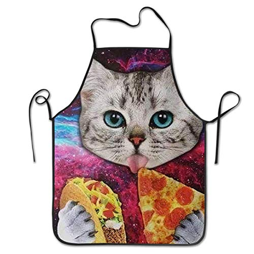 DianaRMurdhy Taco Pizza Cat Food Cute Colorful Apron Theme...