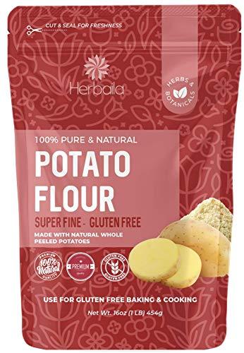 Potato Flour 32oz, Potato Bread Flour, Gluten Free Flour, Made from Whole Potatoes, Very Fine, Non-GMO