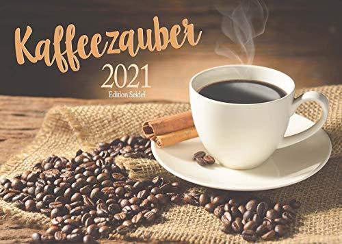 Edition Seidel Kaffezauber Premium Kalender 2021 DIN A3 Wandkalender Essen Dessert Food Genuss Kaffee
