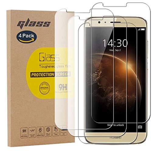 pinlu [4 Pack Protector de Pantalla de Cristal para Huawei G8 Protector...