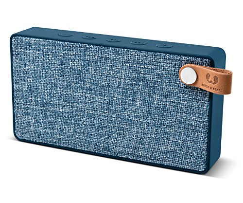 Fresh 'N Rebel Speaker Rockbox Slice Fabriq Edition, Altoparlante Bluetooth Tascabile 6W, Extra Bass, Vivavoce, Blue Indigo
