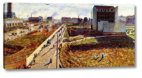 "Works at Porta Romana by Umberto Boccioni - 8"" x 16"" Gallery Wrap Canvas Art Print - Ready to Hang"