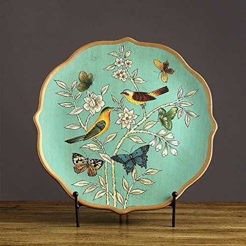 CKH Decoración del Arte Europeo Decoración de la Placa Decoración del hogar Creativo Salón Muebles de cerámica Placa