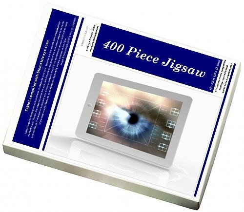 Media Storehouse 400 Piece Puzzle of Tablet computer with biometric eye scan (9335749)