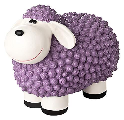 incubado Mini Schaf Molly Deko-Figur Gartenfigur, Gartendekoration für den Garten Außen-Bereich, klein (Pastell violett)