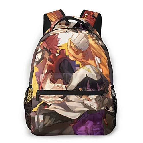 DJNGN My He-r-o ACA-Demi-a Mochila MHA Mochila de Viaje de Moda Unisex BNHA Izuku Journal Notebook Bag Anime School Bookbag Laptop Mochila Daypack para niños Adultos