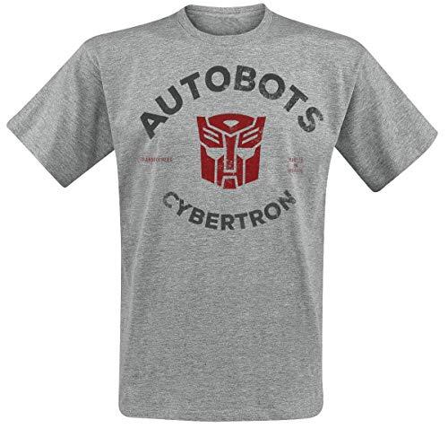 Transformers Autobots Männer T-Shirt grau meliert XL, 88% Baumwolle, 12% Polyester, Fan-Merch, TV-Serien