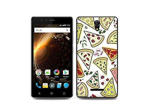 etuo Handyhülle für Allview P6 Energy Lite - Hülle, Silikon, Gummi Schutzhülle Fantastic Case - Pizza