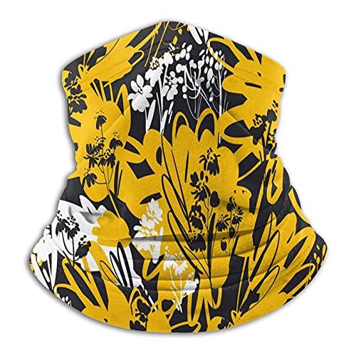 Más cálido cuello polaina verano flor amarillo máscara facial para hombres mujeres bandanas para pesca caza deportes