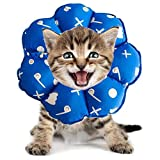 PJDDP Regolabile Collare del Gatto di Recupero Cat Cono Dopo Chirurgia, Elisabettiano Collari Protettivi Cono, Bordo Sfumato Anti-Bite Lick Capo La Guarigione della Ferita per Animali Gatto Cani,5,SM