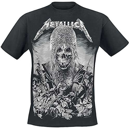 Metallica Templar Hombre Camiseta Negro M, 100% algodón, Regular