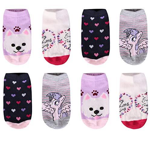 Libella 12er Kinder Mädchen Socken mit Punkte und Streifen Kids Füßlinge Sneakersocken bunt 2108 31-34