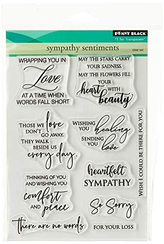 Penny Black Clear Stamps-Sympathy Sentiments 5'X6.5', Multi