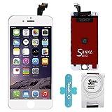 SANKA Ecran LCD pour iPhone 6, 4.7', Retina Tactile Écran Vitre Display Digitizer Kit de Réparation Complet - Blanc (Free Outils Inclus)