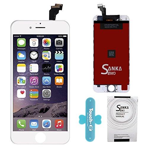 SANKA Pantalla Táctil LCD Reemplazo de Pantalla para iPhone 6 con Herramientas, Color Blanco