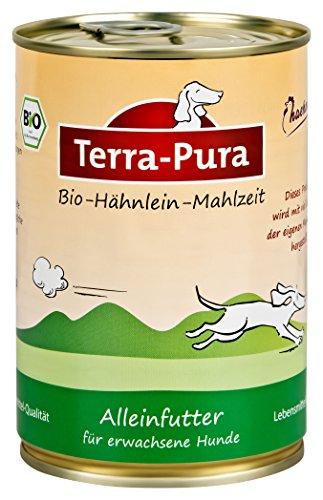 Terra Pura Bio-Hundenassfutter Hähnlein, 12er Pack (12 x 400 g)