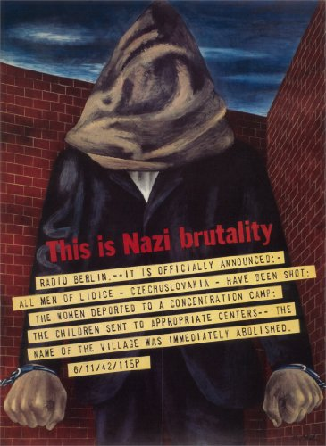 Vintage USA WW2 1939-45 Propaganda Ist Dies NAZI BRUTALITY, 250gms, Glänzend, A3, Vervielfältigtes Poster