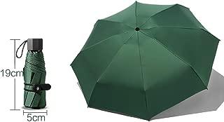 YQRYP Pocket Sun Umbrella Sun Protection UV Umbrella Female Umbrella Umbrella Dual-use Ultra-Light Compact Portable Mini Five-fold Umbrella Windproof Umbrella, Golf Umbrella (Color : Green)