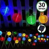 Catena di lanterne solari colorate a LED da esterno