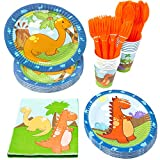 Blue Orchards Little Dinosaur Party Supplies Packs (113+ Pieces for 16...