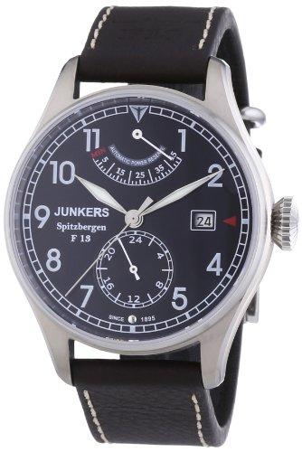 Junkers Herren-Armbanduhr XL Spitzbergen F13 Analog Automatik Leder 61602