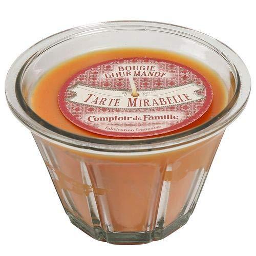 Bougie Comptoir de famille - Tarte Mirabelle - +/- 50h - 11.5 X 11.5 X 7 cm - Fabrication française
