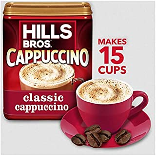 Hills Bros. Instant Cappuccino Mix, Classic Cappuccino Mix – Easy to Use and Convenient, Enjoy Coffeehouse Flavor at Home – Frothy, Decadent Cappuccino with a Hint of Sweetness (14 Ounces)