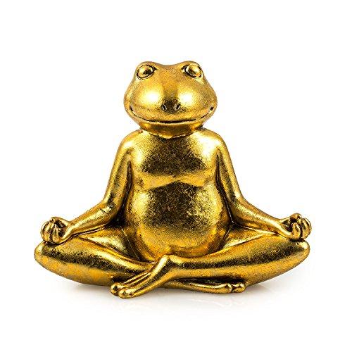 pajoma Yoga-Frosch \'\'Namaste\'\' aus Kunstharz, H 11 cm