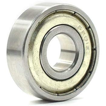 25mm OD 52mm Width 15mm 6205-Z Radial Ball Bearing Double Shielded Bore Dia