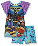 LEGO Batman Big Girl's Batgirl 2 Pc Pj Short and Sheer Sleeve Top, Purple, 7/8