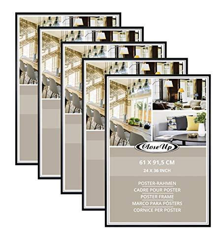 Close Up Posterrahmen-Set 5 STK. 61x91,5 cm schwarz - Wechselrahmen für Maxi Poster, Qualitäts-Bilderrahmen, bruchsichere PVC-Scheibe