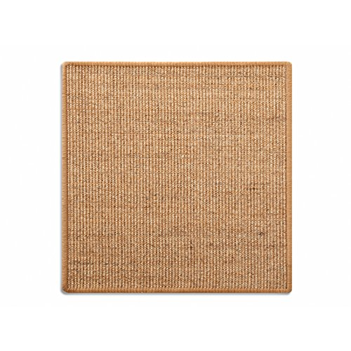 Floordirekt Sisal Fußmatte Teppich Vorleger Kratzteppich Katzenmöbel Kratzmatte Sisalmatte, widerstandsfähig & in vielen Farben und Größen erhältlich (100 x 100 cm, Kork)