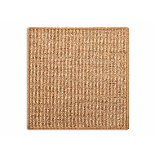 Floordirekt Sisal Fußmatte Teppich Vorleger Kratzteppich Katzenmöbel Kratzmatte Sisalmatte, widerstandsfähig & in vielen Farben und Größen erhältlich (60 x 80 cm, Kork)