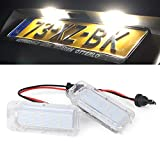 Paision LED License Plate Light Tag Lamp Compatible With Ford Explorer Expedition Fiesta Fusion Escape Jaguar XF X250 XJ X351 Lincoln MKC 2015-2018