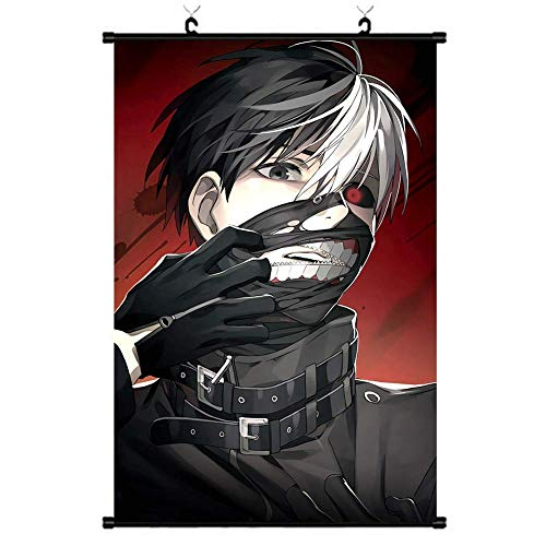 GerFogoo ZhuHaoKeJi Giappone Anime Tokyo Ghoul Kaneki Ken Decor Scroll Poster Parete Pergamena Cosplay Decor Poster 20X30cm (Multi-Style01)