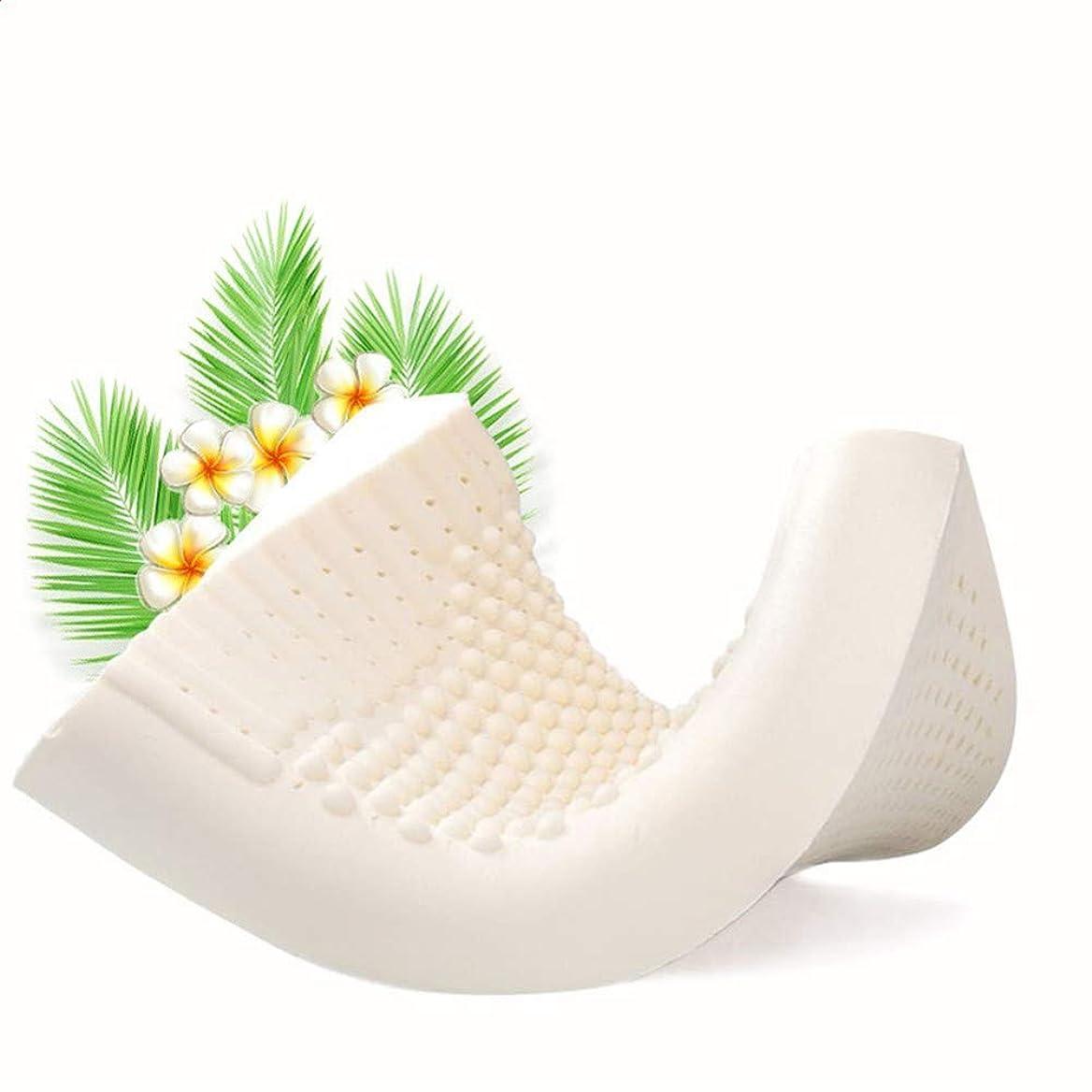 スリム装置酸化物ラテックス枕、スーパーバウンシーナチュラルメモリーラテックス枕、ベッド枕は豪華なローズぬいぐるみ&通気性シェル洗えるカバーで首と頭をサポートしています