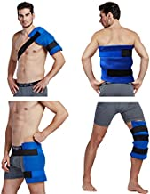 Koo-Care Large Flexible Gel Ice Pack & Wrap with Elastic Straps for Hot Cold Therapy - Great for Sprains, Muscle Pain, Bruises, Injuries - 11