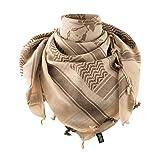 Shemagh Spartan Helmet Army Skarf Face Mask Head Wrap Keffiyeh (Coyote/Brown)