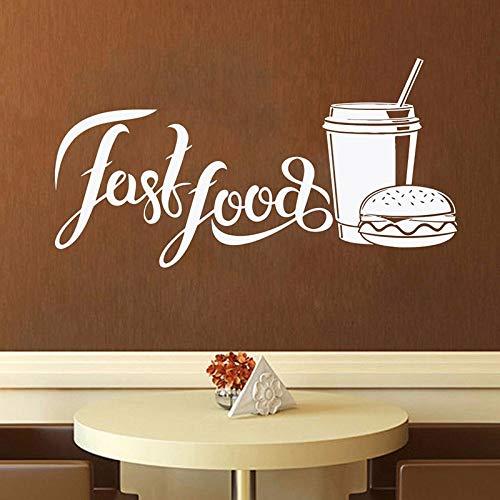 JXMN Fast Food Wandaufkleber Shop Logo Wandfenster Aufkleber Brot und Backwaren Home Küche Wandaufkleber Fensterdekoration 50,4x94,8cm