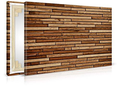 XXL-behang canvasfoto Wood Panel - reeds opgespannen - schilderijen, kunstdruk, wandschildering, spieraam, afbeelding op canvas van trendmuren 90x60cm