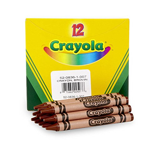 Crayola Crayons in Brown, Bulk Crayons, 12 Count