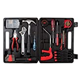 Household Hand Tools, 65 Piece Tool Set by Stalwart, Set Includes – Hammer, Adjustable Wrench, Screwdriver Set, and Pliers - Great for DIY Projects