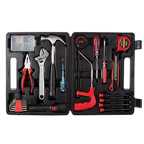 Stalwart - 75-HT1065 Household Hand Tools, 65 Piece Tool Set by , Set Includes – Hammer, Adjustable Wrench, Screwdriver Set, and Pliers - Great for DIY Projects