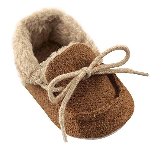 Luvable Friends Unisex-Baby Moccasin Shoes, Chestnut, 12-18 Months