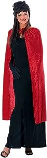 Costume Co Women's 45-Inch Red Panne Velvet Cape