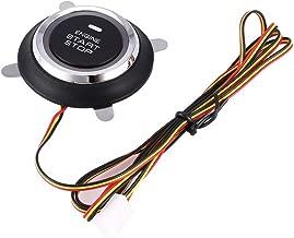 9pcs Car SUV Keyless Entry Start Engine Alarm System Push Button Starter(Black)