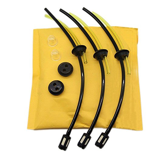AISEN 3X Universal Benzinfilter kit Benzinschlauch Dichtung für Freischneider Trimmer Mower Motorsense Heckenschere Hochentaster