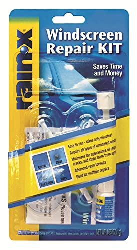 RainX Fix a Windshield Do it Yourself Windshield Repair Kit, for Chips, Cracks, Bulll's-Eyes and...