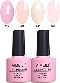 AIMEILI Soak Off UV LED Gel Nail Polish Multicolor/Mix Color/Combo Color Set Of 4pcs X 10ml - Kit Set 17